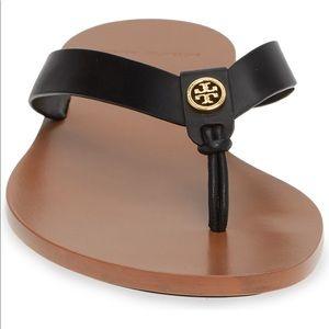 Tory Burch Manon Leather flip flops Black Sz 10.5